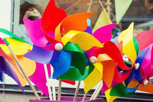 Colorful pinwheels Canvas-taulu