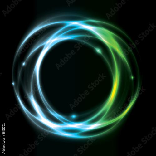 Foto  Glühende Kreis Hintergrund Design