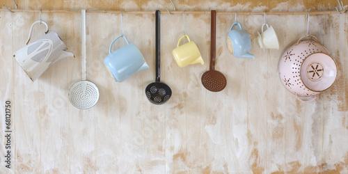 Fotomural  vintage kitchen utensils, free copy space