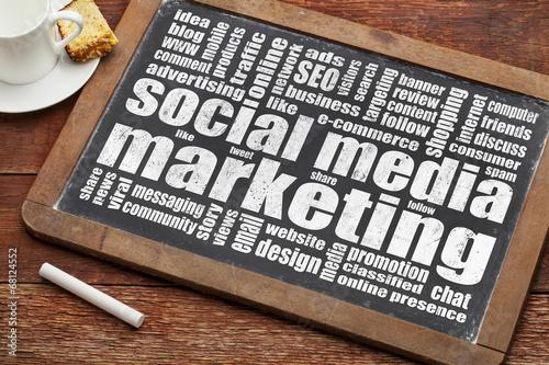 Fotografie, Obraz  social media marketing