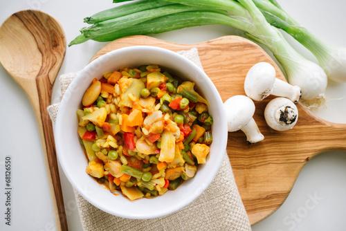 Fotografie, Obraz  Vegetarian paella