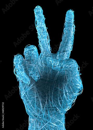 Mano segno e simbolo pace vittoria Canvas Print