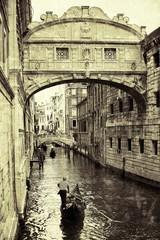 Obraz na Szkle Most westchnień Wenecja styl retro