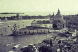 Widok na Bazylike Santa Maria della Salute styl retro - 68131110