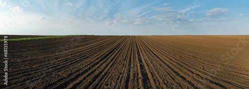 Photo  Arable land panorama