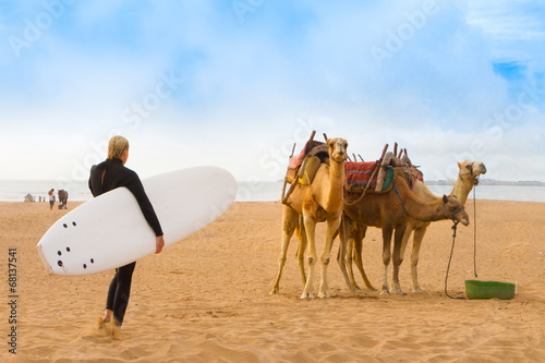Photo sur Aluminium Maroc Beach of Essaouira, Morocco, Africa.