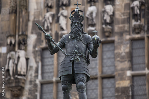 Carolus Magnus statue in aachen germany Wallpaper Mural