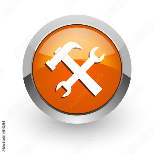 Fotografie, Obraz  tool orange glossy web icon