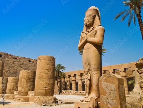 In de dag Egypte Ägypten, Luxor, Karnak-Tempel