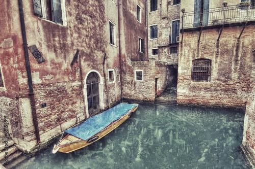 Valokuva  Weneckie kanały styl retro