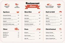 Restaurant Food Menu Design Te...