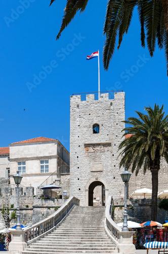 Fotografie, Obraz  Town Gate, Korcula island off Dubrovnik