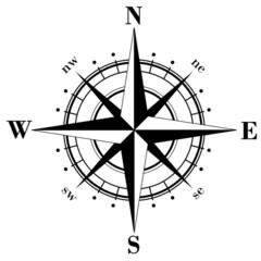 Naklejka Do pokoju młodzieżowego Compass Rose