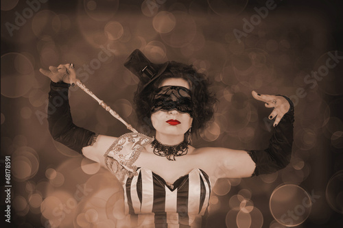 Beautiful girl with a venetian mask.