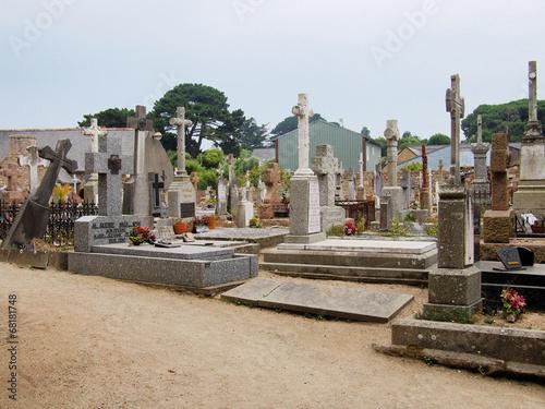 Foto op Canvas Begraafplaats cimetière de Brehat