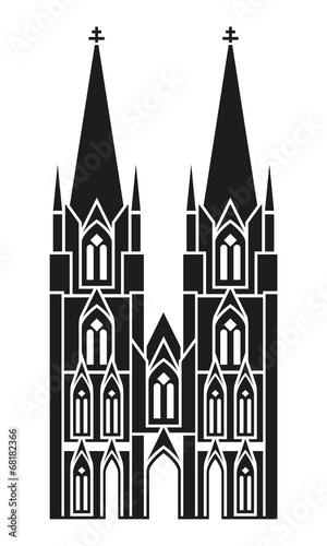 Leinwand Poster Kölner Dom