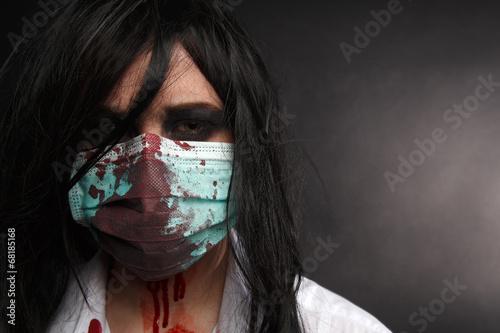 Fotomural  Zombie nurse