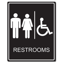 Restrooms Sign Vector Illustration