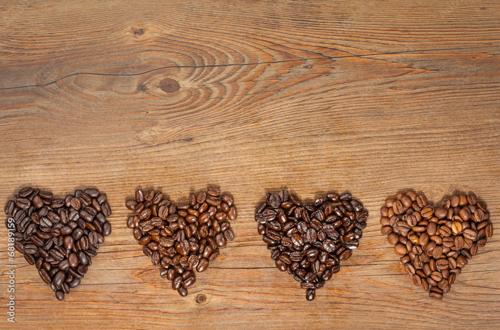 Coffee Bean Hearts