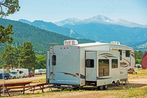 Poster Camping RV Fifth Wheel Camping