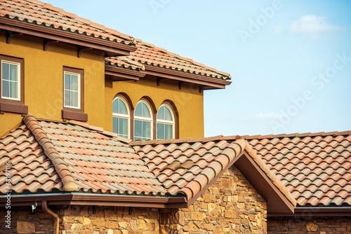 Valokuvatapetti Slates Roof. Home Roof