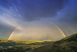 Fototapeta Tęcza - Rainbow Over Denver