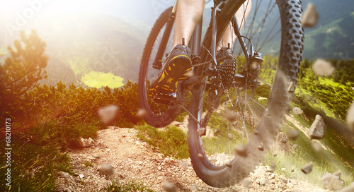 Jump Mountainbike Canvas Print
