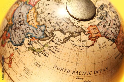 In de dag Wereldkaart Old Globe