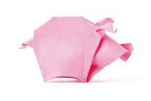 Origami Pink Pig