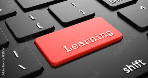 Learning on Red Keyboard Button.