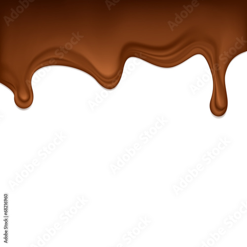 Foto op Canvas Chocolade Dripping chocolate