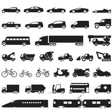 Transportation Car Icons Set