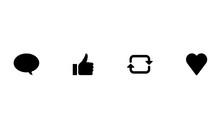 Minimalist Social Share Icons