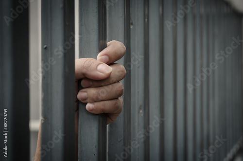 Wallpaper Mural Hand in jail