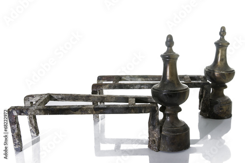 Fotografie, Obraz  Old Metallic Andirons