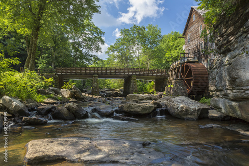 In de dag Molens Glade Creek Grist Mill