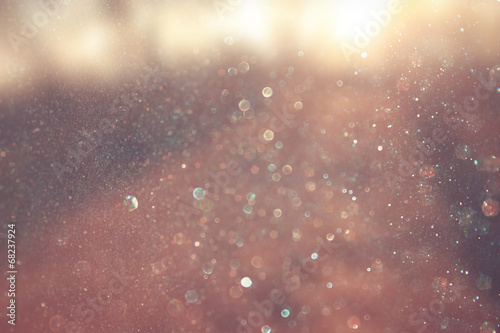 Obraz abstract photo of light burst and glitter bokeh lights. image is - fototapety do salonu