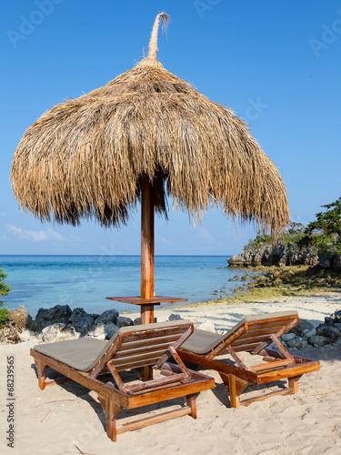 Poster Tunesië Beautiful tropical beach