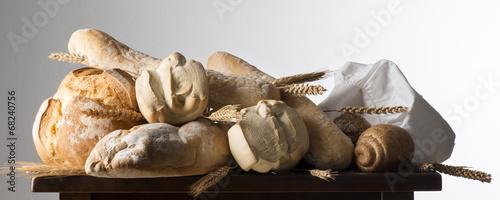 Frische Brotscheibe