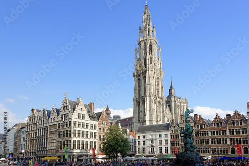 Tuinposter Antwerpen Marktplatz Antwerpen