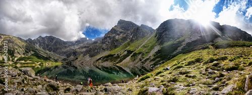 Fototapeta Panorama na Czarny Staw Gąsienicowy, Tatry obraz