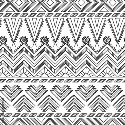 In de dag Boho Stijl Ethnic ornamental textile seamless pattern