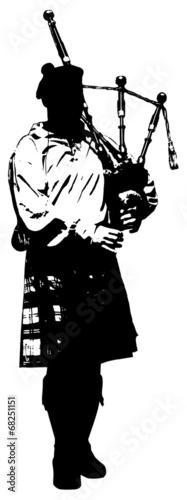 Fotografija illustration of bagpiper