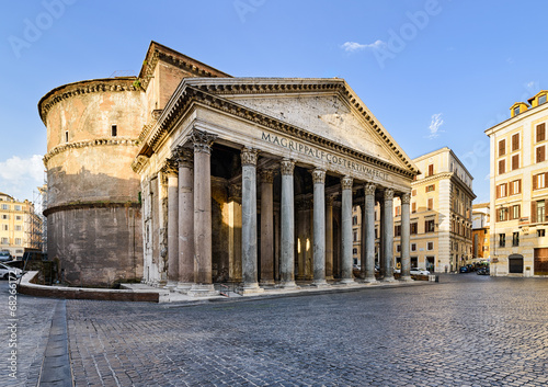 Poster Rome Pantheon in Rome, Italy