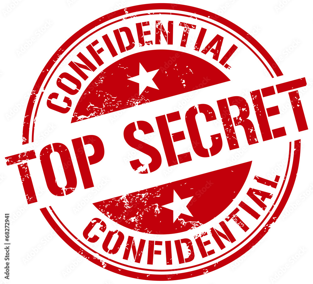 Fototapeta top secret stamp