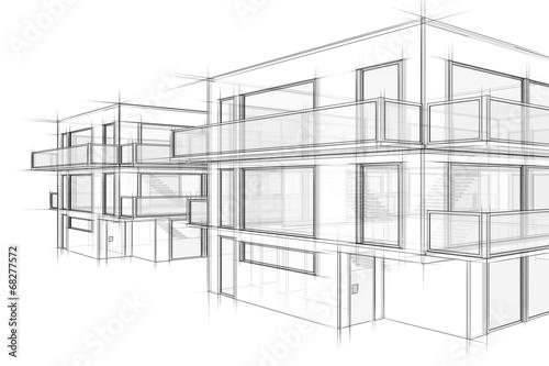 Hauser Architektur Skizze