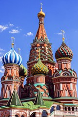 Fototapeta na wymiar St. Basil's Cathedral on Red Square in Moscow, Russia.