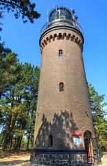 Czołpino koło Łeby, latarnia morska z 1875 roku,