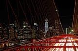 Most Brookliński nocą