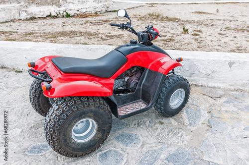 Red atv quad bike